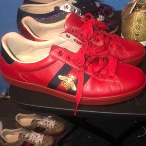 Gucci red leather ( rarely worn)